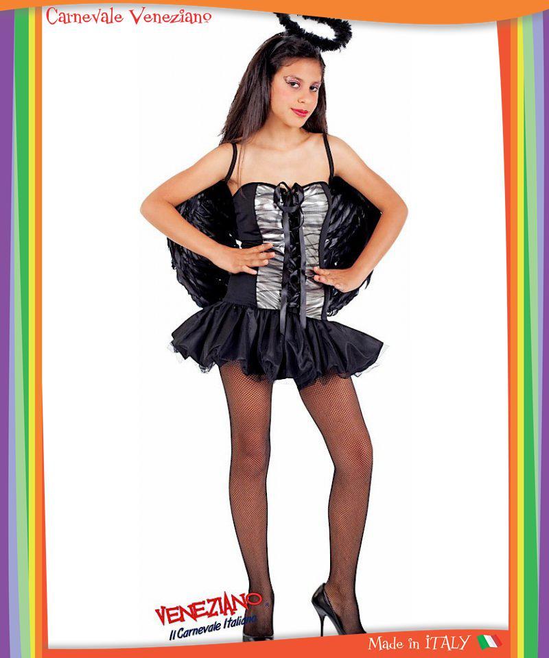 Costume di carnevale da angelo nero vestito per ragazza 12 16 anni travestiment ebay - Costumi da bagno per ragazze di 12 anni ...