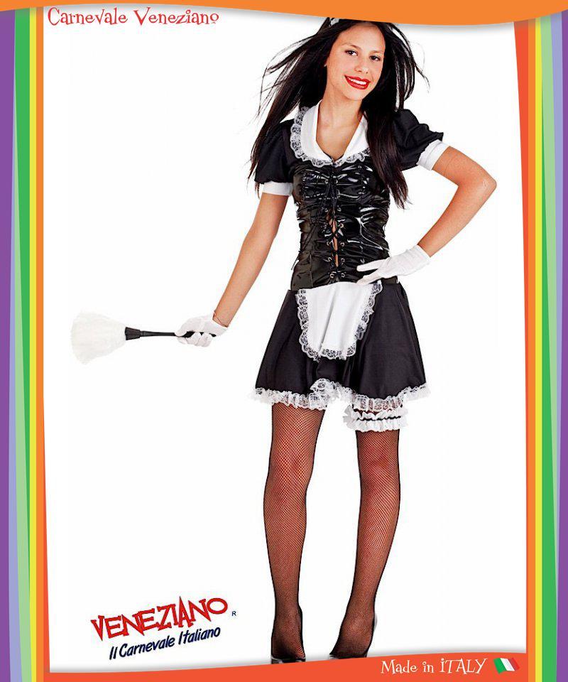 Costume di carnevale da cameriera vestito per ragazza 12 16 anni travestimento ebay - Costumi da bagno per ragazze di 12 anni ...