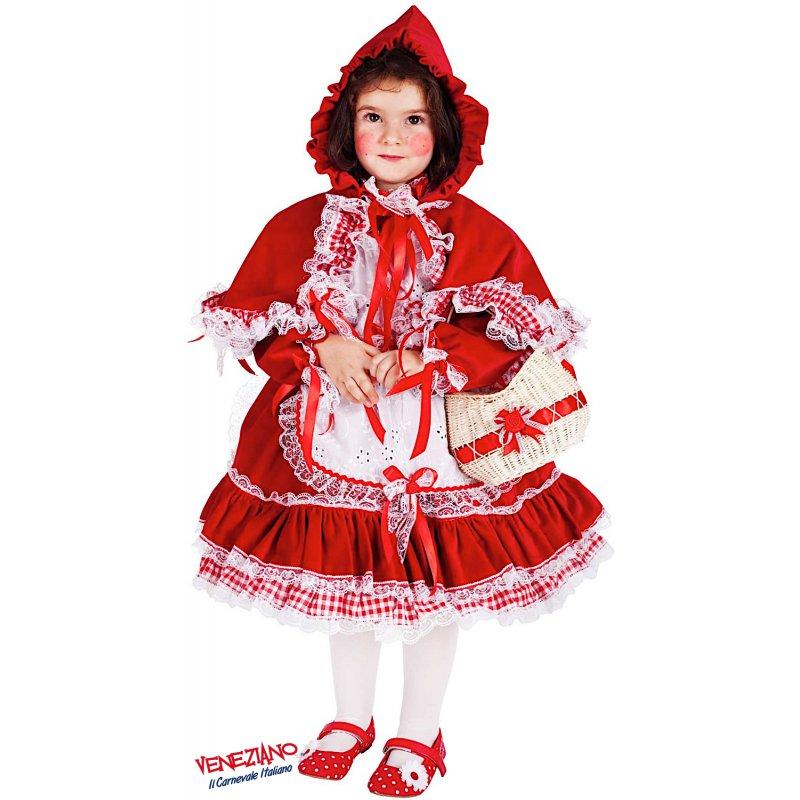 COSTUME di CARNEVALE da PICCOLA CAPPUCCETTO ROSSO LUSSO 5038 vestito per neonata