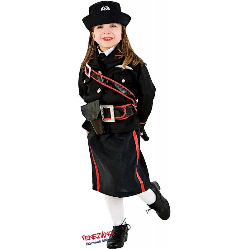 Vestito Carabiniere Bambino.Costumi Di Carnevale Carabiniere Bimba 3620 Carnevaleveneziano