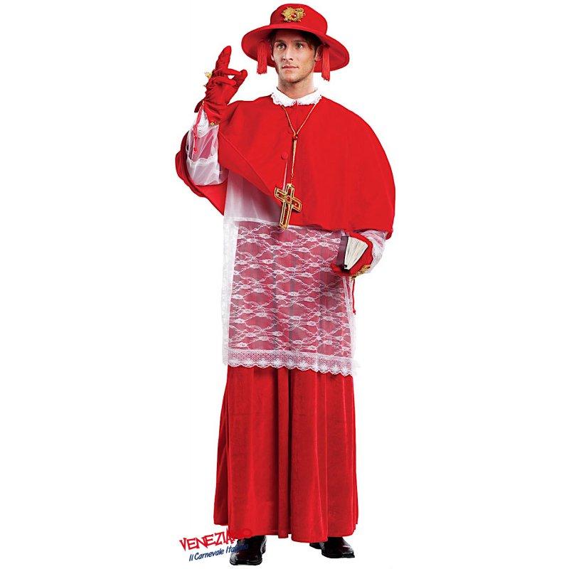 COSTUME di CARNEVALE da CARDINALE 4477 vestito per Uomo adulti  travestimento veneziano halloween cosplay festa party 8fd2eb32ba7