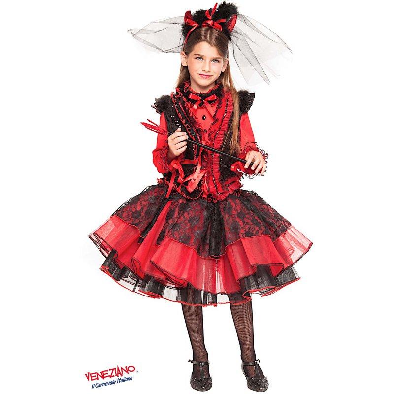 Costumi di Carnevale DIAVOLETTA RAGAZZA 28043 - CarnevaleVeneziano 00475d6ae64f