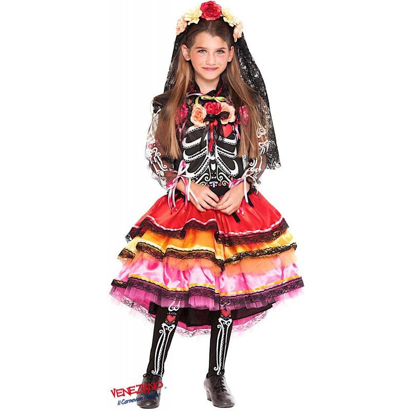 c7b2b554086b Costumi di Carnevale FANTASMINA MESSICANA RAGAZZA 28069 ...