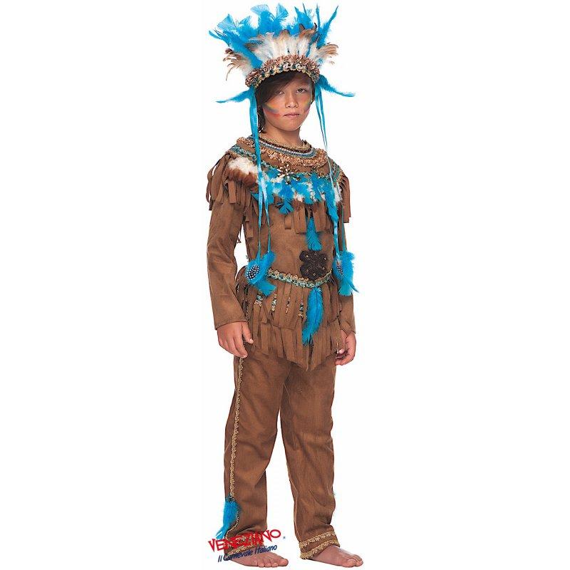 Costumi di Carnevale GRANDE CAPO INDIANO 50687 - CarnevaleVeneziano 1fece271419