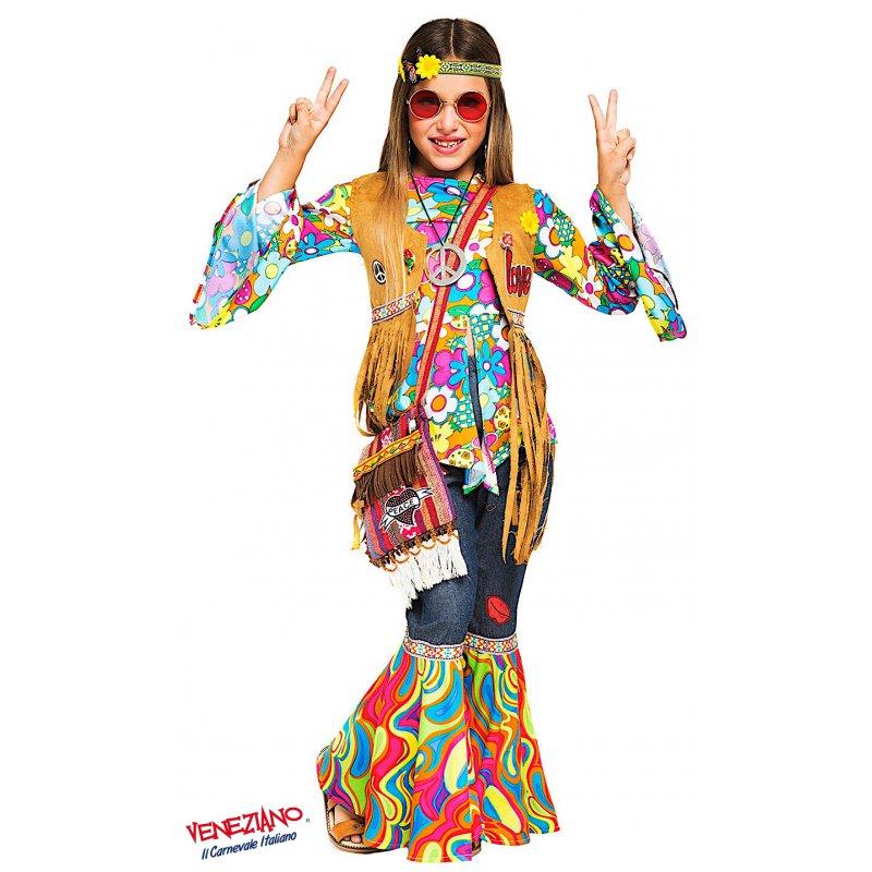 Costumi di Carnevale HIPPY RAGAZZA 52340 - CarnevaleVeneziano 24e7d67c2cd