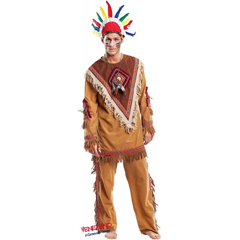 Costumi di Carnevale INDIANO 4460 - CarnevaleVeneziano 80a019d7035