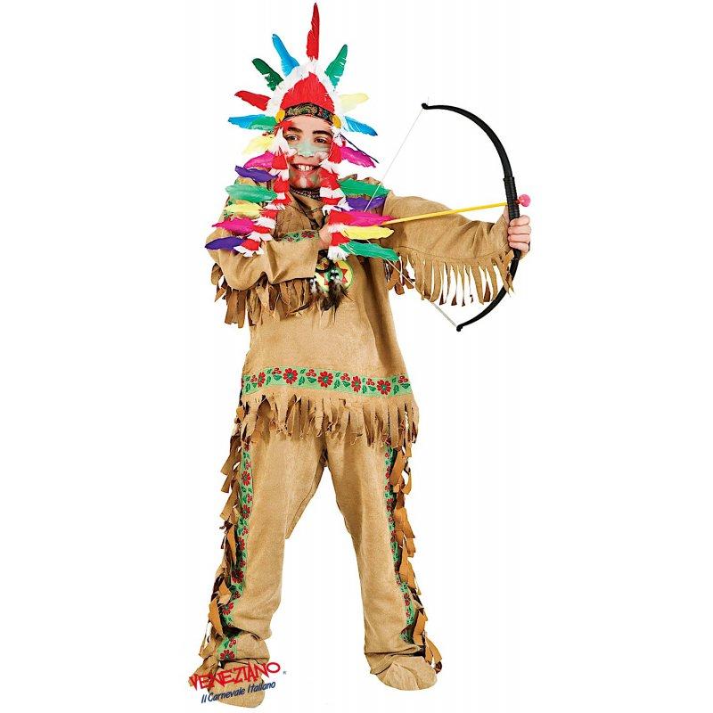 Costumi di Carnevale INDIANO BABY 5942 - CarnevaleVeneziano fa27d2808d9