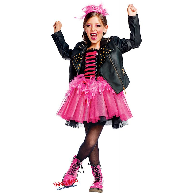 Costume di carnevale da lady punk vestito per ragazza 11 12 anni travestimento v ebay - Costumi da bagno per ragazze di 12 anni ...
