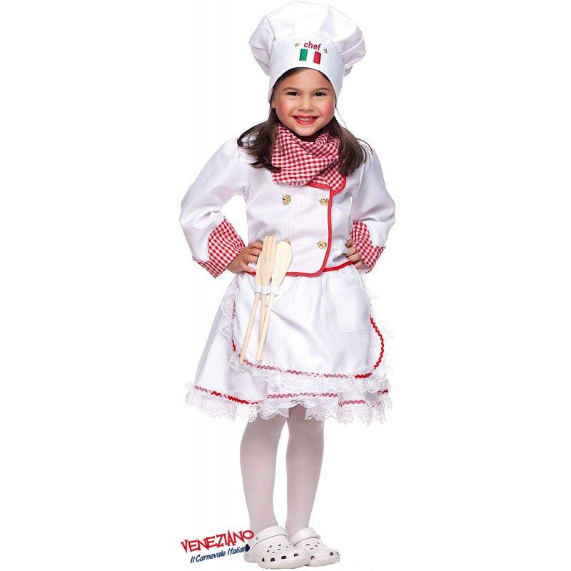 0310d692c813 Costumi di Carnevale PICCOLA CUOCA 53152 - CarnevaleVeneziano