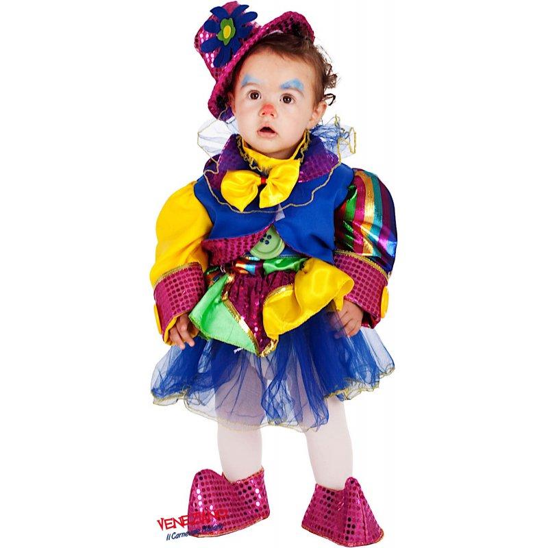 davvero economico donna nuovo aspetto Costume di Carnevale PICCOLA PAGLIACCETTA