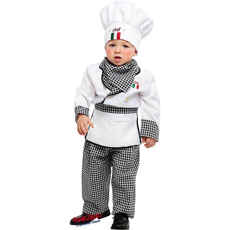 Costumi di Carnevale PICCOLO CUOCO 53153 - CarnevaleVeneziano b692c1fa435d