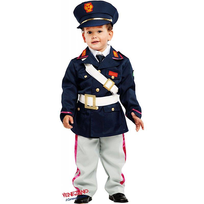 Vestito Carabiniere Bambino.Costumi Di Carnevale Piccolo Poliziotto 53151 Carnevaleveneziano