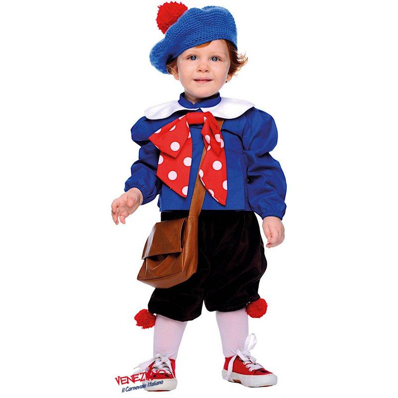 COSTUME di CARNEVALE da PIERINO NEONATO vestito per neonato bambino 0-3  Anni travestimento veneziano halloween cosplay festa party 3b4c1aca634e