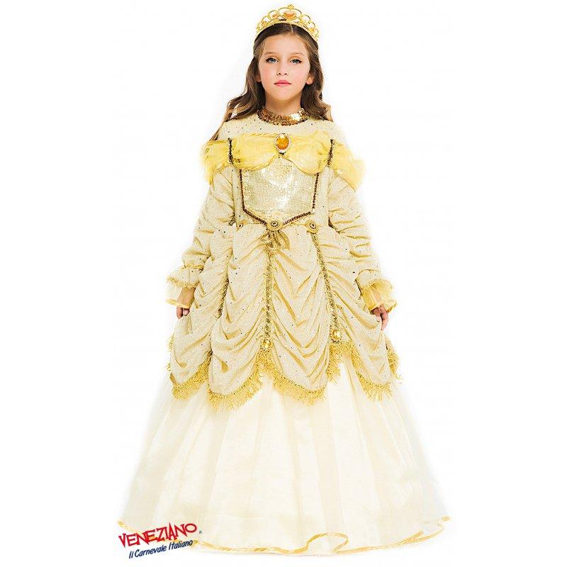 COSTUME di CARNEVALE da PRINCIPESSA BELLA BESTIA 52361 vestito per ragazza  bambina 7-10 Anni travestimento veneziano halloween cosplay festa party ab4aa74f974