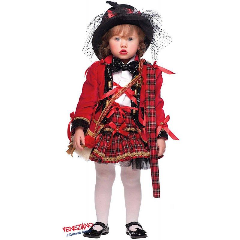 COSTUME di CARNEVALE da SCOZZESE NEONATO 50672 vestito per neonato bambino 0-3 A