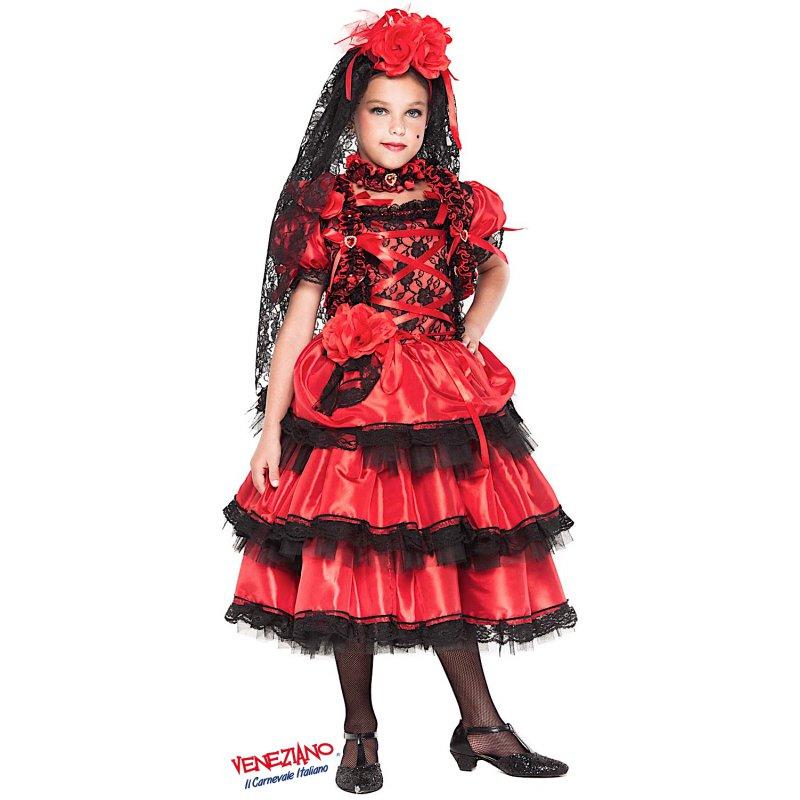 ee1243b58a1c Costumi di Carnevale SPAGNOLA PRESTIGE RAGAZZA 28039 ...